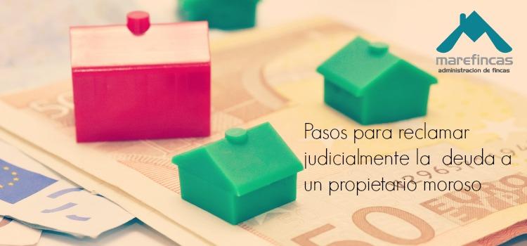 reclamar deuda comunidad propietarios